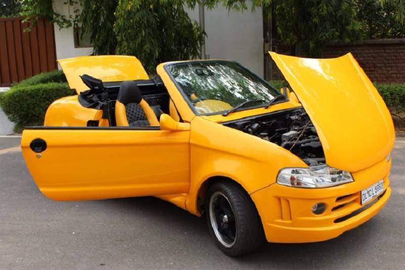 Modified Maruti Suzuki 800 convertible