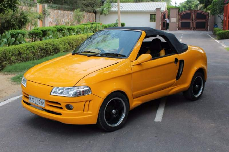 modified maruti 800 convertible pictures amp details