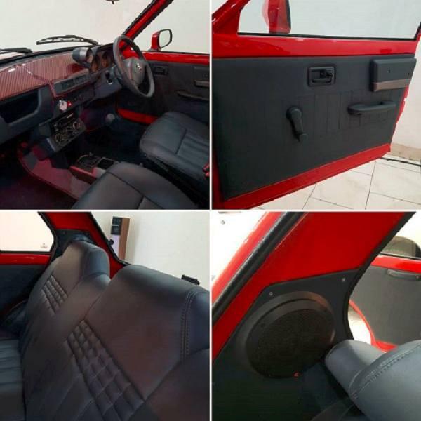 Restomodded Maruti SS80 interior
