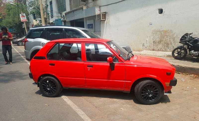 Restomodded Maruti SS80 side profile