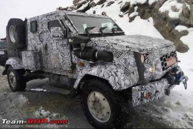 Tata defence vehicle spied testing