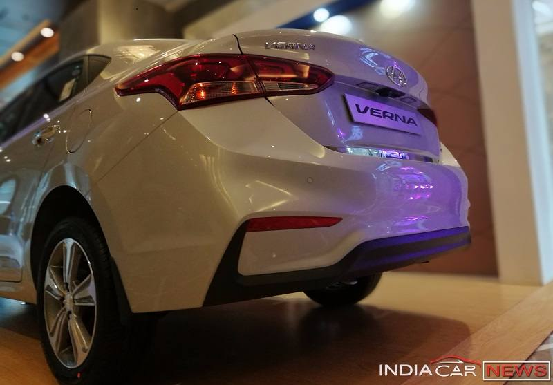The LED Taillamps Of New Verna