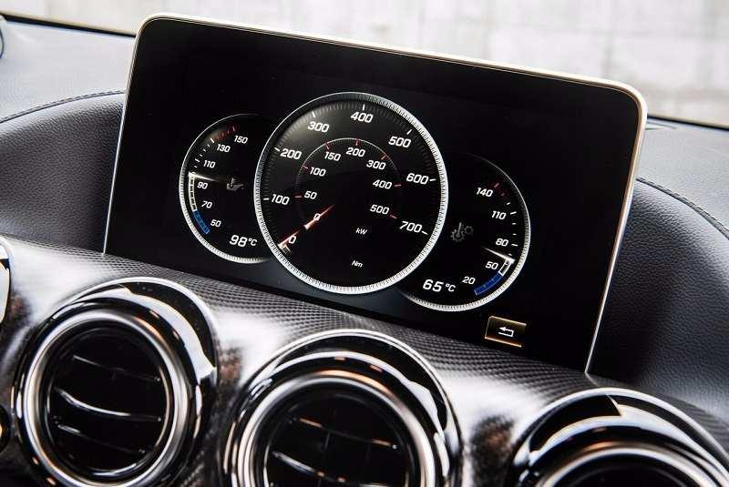 Mercedes AMG GTR instrument cluster