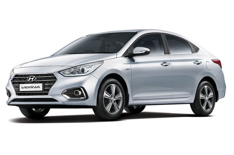 New Hyundai Verna India front