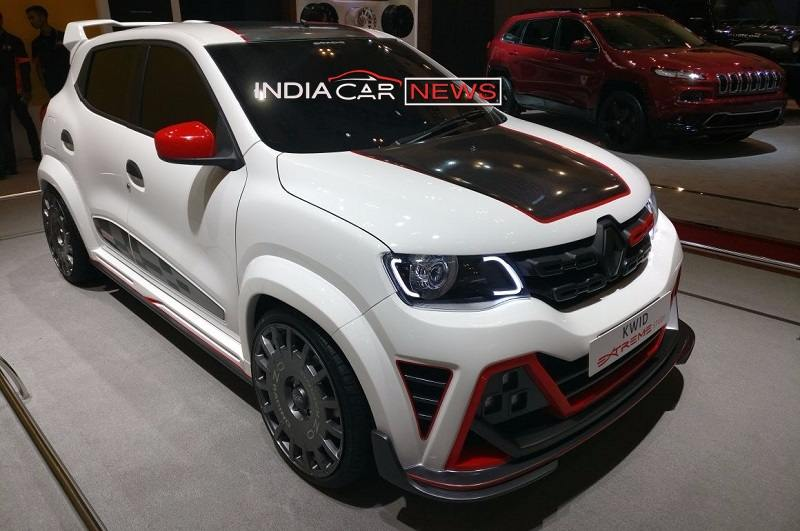 renault kwid extreme edition at giias 2017 pictures specs. Black Bedroom Furniture Sets. Home Design Ideas