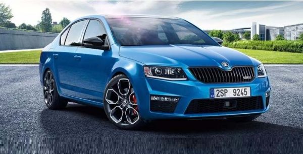 Skoda Octavia RS India in Blue