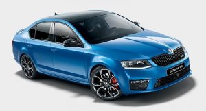 Skoda Octavia RS India side front