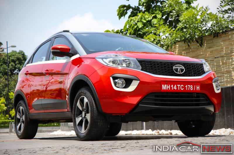 Tata Nexon in Red