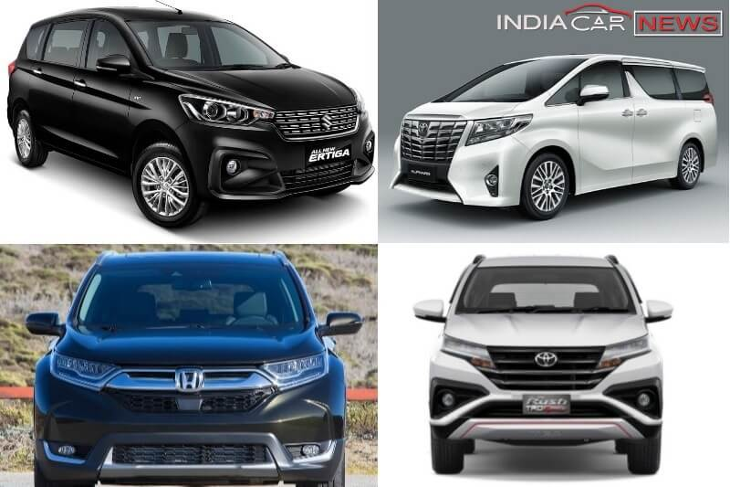 upcoming new 7 seater family cars and suvs in india