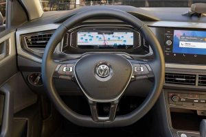 Volkswagen Virtus Revealed Steering Wheel