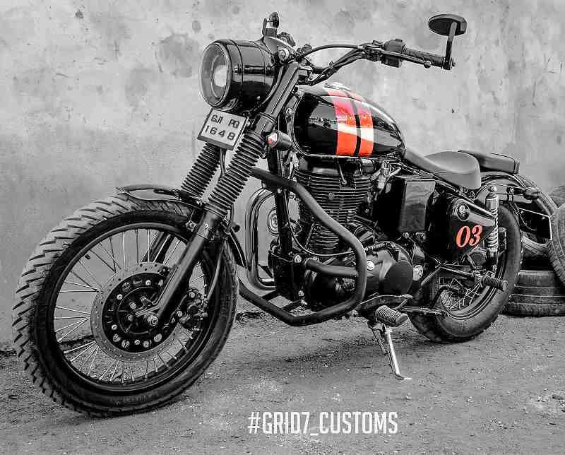 Modified RE Classic 350 by Grid 7 Customs