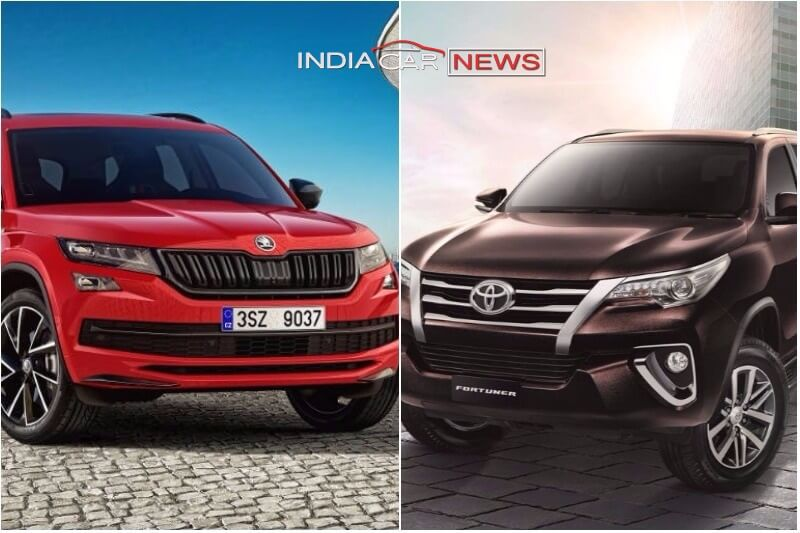 Skoda Kodiaq Vs Toyota Fortuner Side