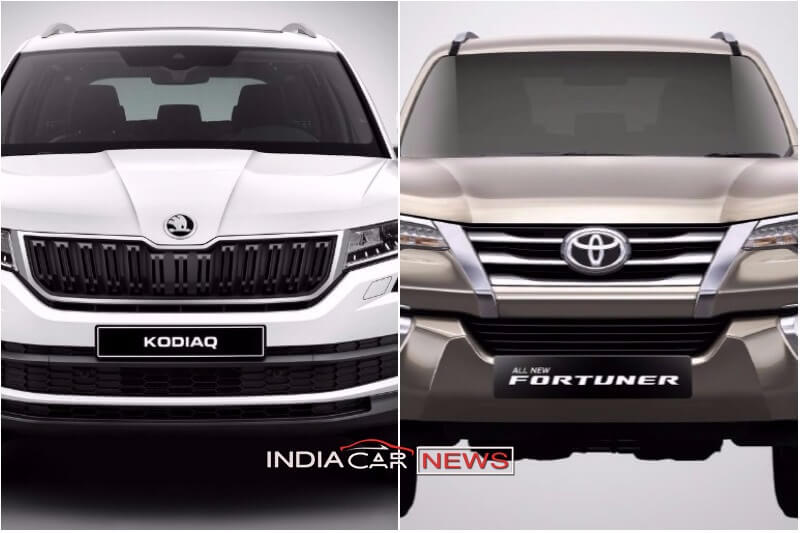 skoda kodiaq vs toyota fortuner price specs comparison. Black Bedroom Furniture Sets. Home Design Ideas