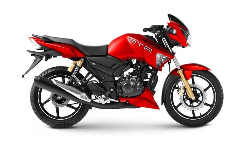 TVS Apache RTR180 Matte Red
