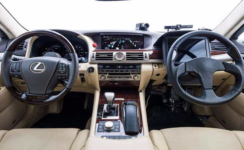 toyota s new self driving car gets two steering wheels pics details. Black Bedroom Furniture Sets. Home Design Ideas