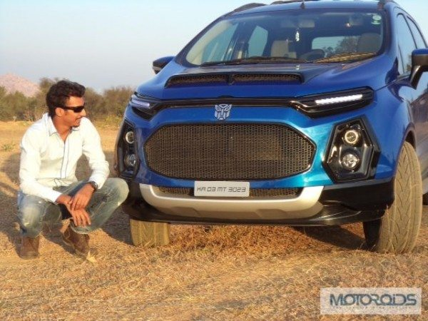 Ford Ecosport Modified Mezaan Anees Front India Car News