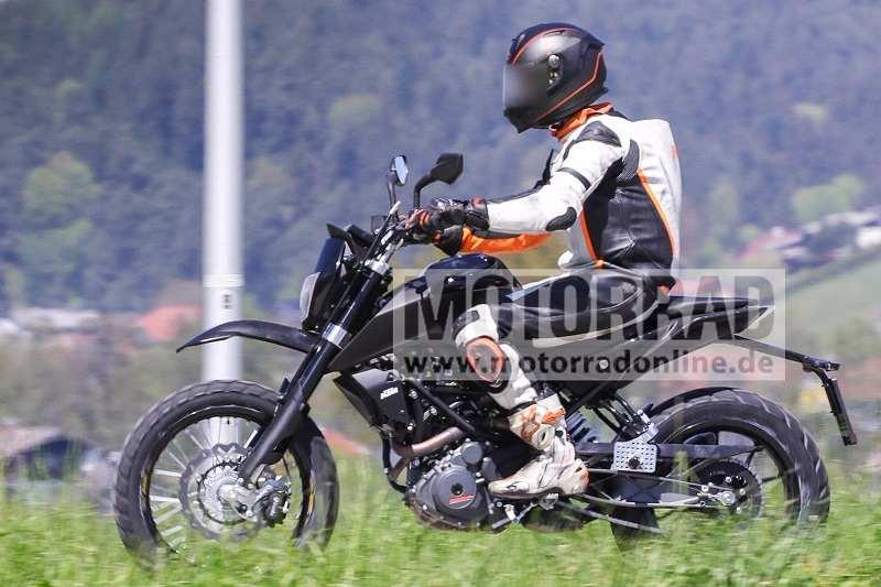 KTM 390 Scrambler India Spied