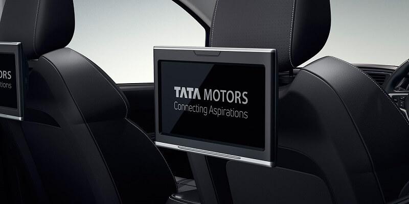 Tata Hexa Downtown rear touchscreen