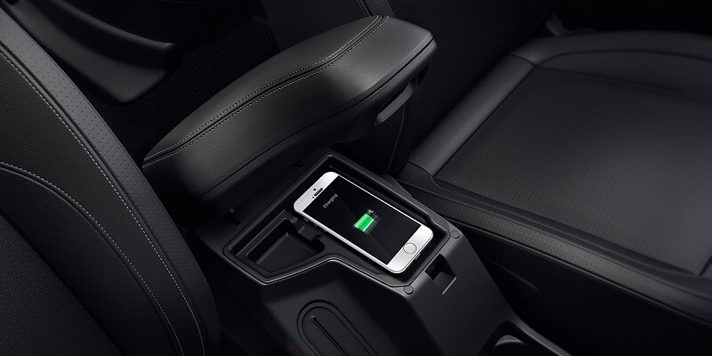 Tata Hexa Downtown wireless charger