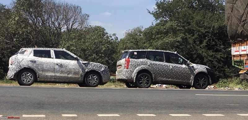 2017 Mahindra XUV500 facelift spied