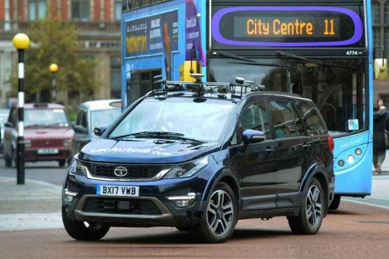 Autonomous Tata Hexa spied 1