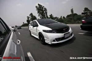 Modified Honda City White Ghost Moving