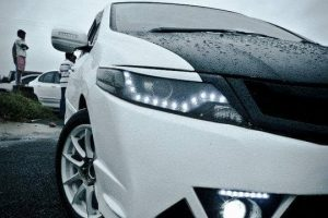 Modified Honda City White Ghost headlights