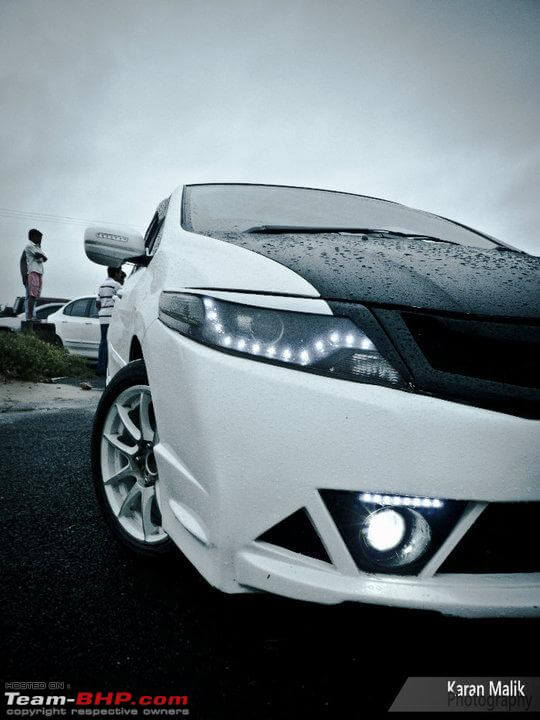 Modified Honda City White Ghost headlights