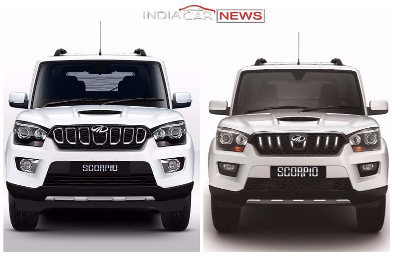 old vs new mahindra scorpio 2017 detailed comparison. Black Bedroom Furniture Sets. Home Design Ideas