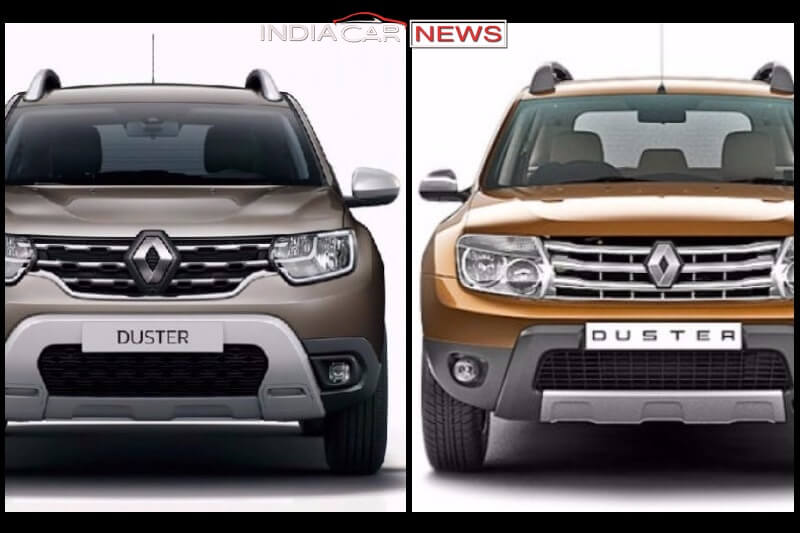 old vs new renault duster 2018 detailed comparison. Black Bedroom Furniture Sets. Home Design Ideas