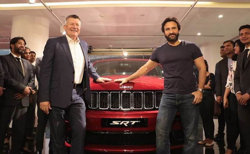 Saif Ali Khan With Jeep Grand Cherokee SRT 1
