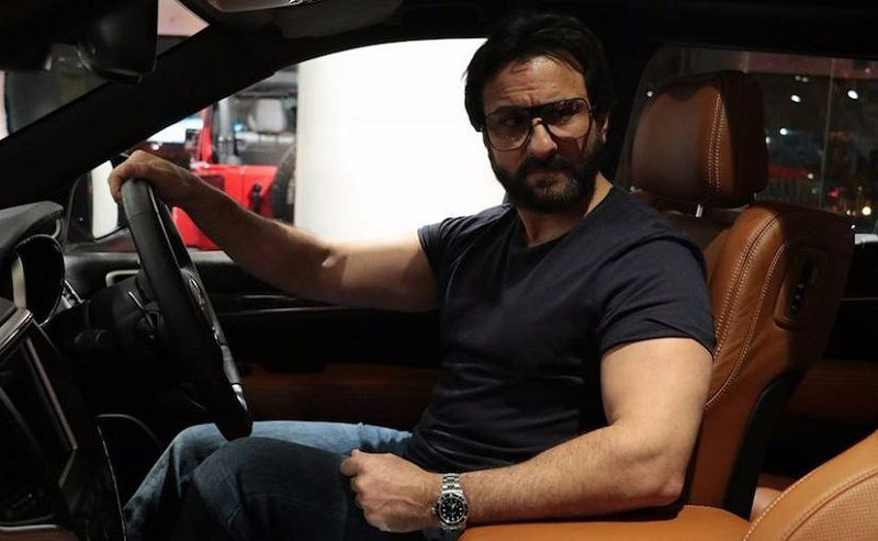 Saif Ali Khan With Jeep Grand Cherokee SRT 2