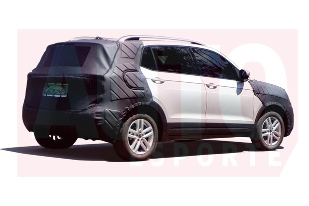 volkswagen t cross compact suv revealed in a new spy shot. Black Bedroom Furniture Sets. Home Design Ideas