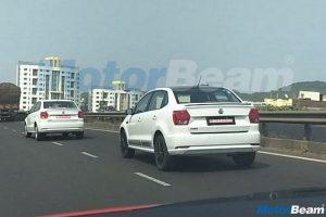 Volkswagen Ameo Sport Edition spied