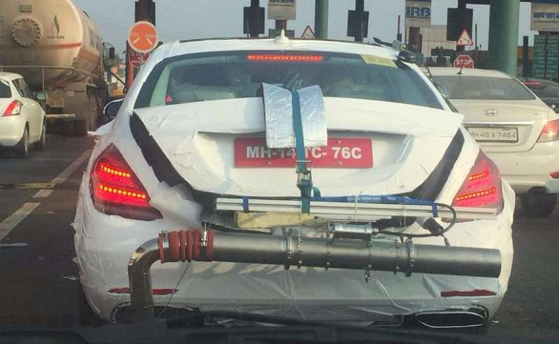 2018 Mercedes Benz S Class spied in India