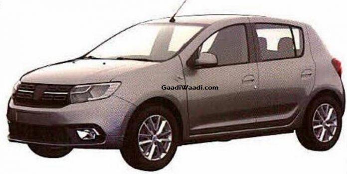 Renault Dacia Sandero Patent Image