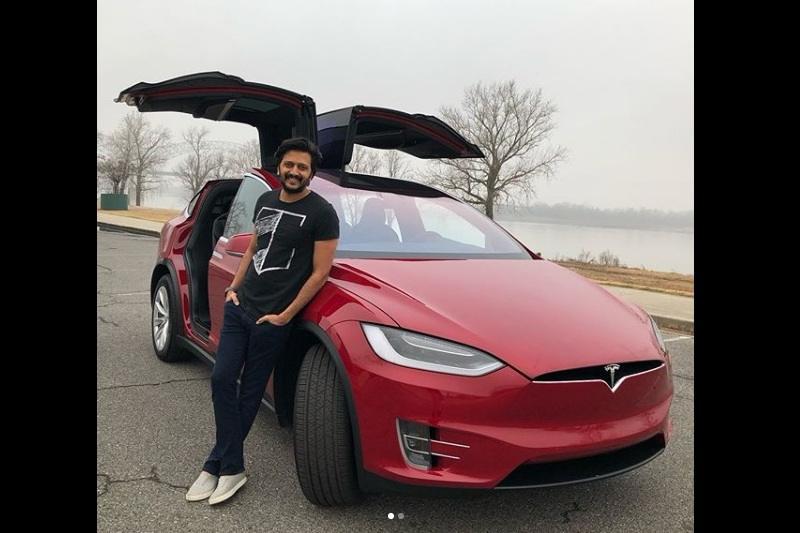Ritesh Deshmukh Tesla Model X