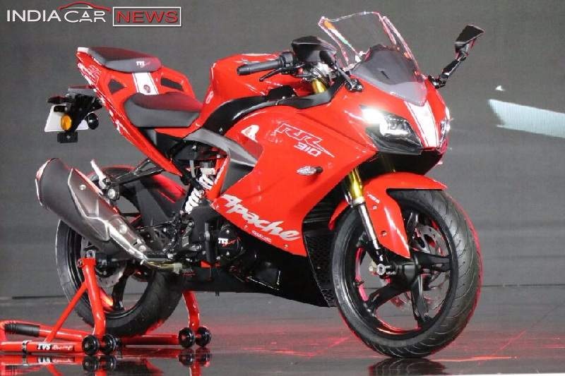 TVS Apache RR 310 in Red