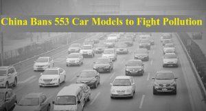 China car ban on 553 models