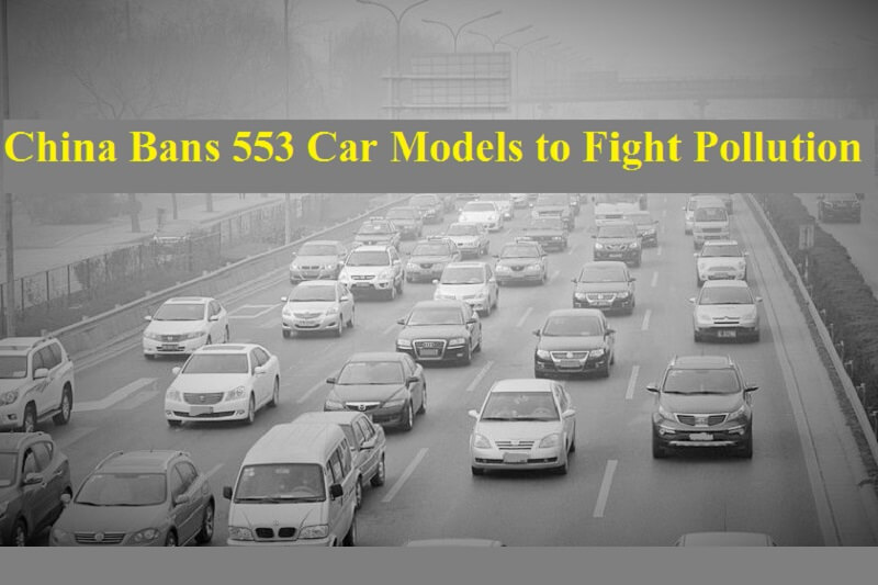 China car ban on 553 models