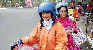 First Female Bike Taxi driver of Delhi