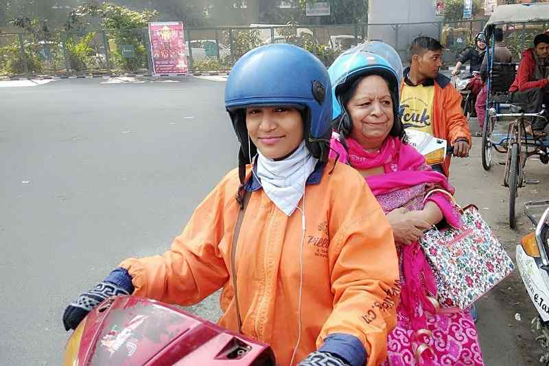 First Female Bike Taxi driver of Delhi