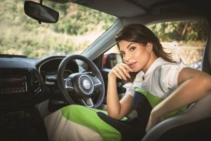 Jacqueline Fernandez Jeep Compass Photo