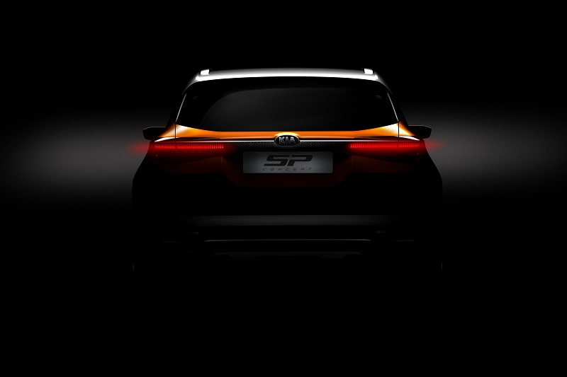 Kia SP SUV Concept Teaser Rear