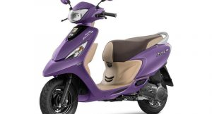 TVS Scooty Zest Matte Purple