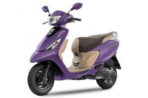 TVS Scooty Zest Matte Purple
