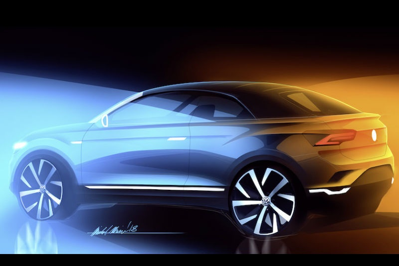 Volkswagen T-ROC Cabriolet SUV Sketch