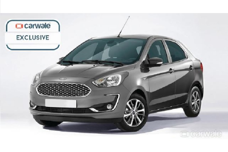 2018 Ford Aspire facelift rendering