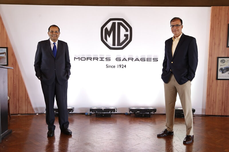 MG Motor India officials