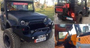 Modified Mahindra Thar With Hard Top